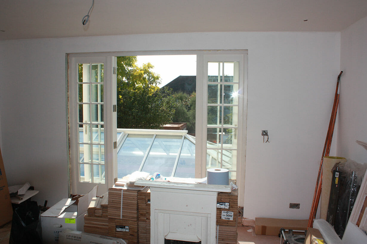 Painted extension interior