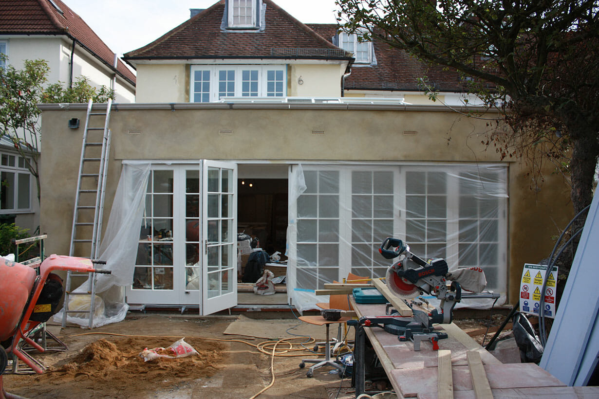 Installation of patio doors