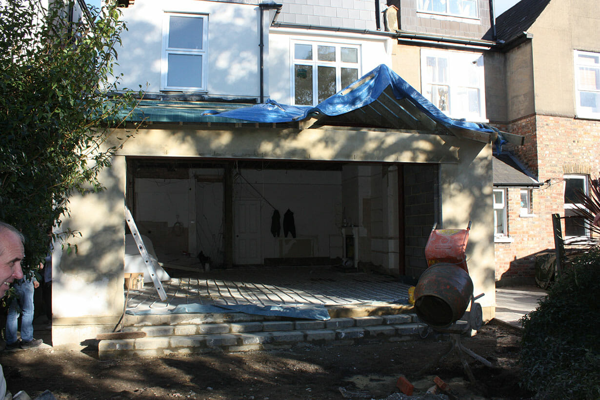 Half completed extension