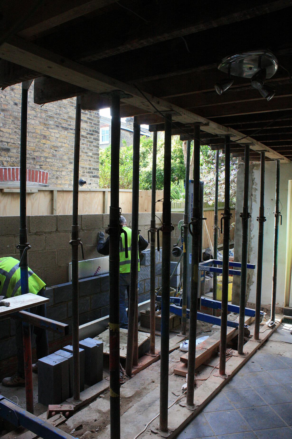 Builders on site