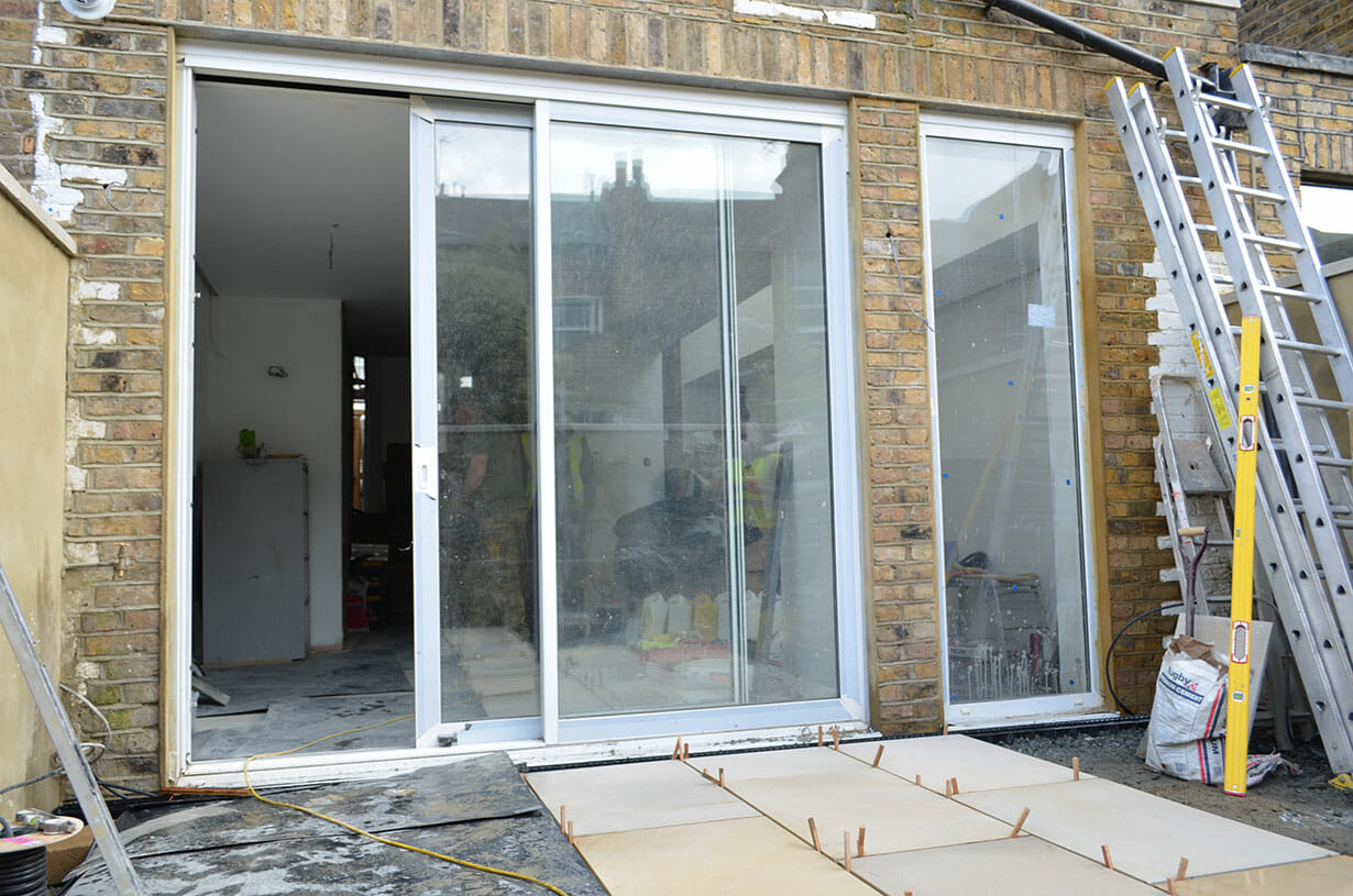 Fitting the patio doors